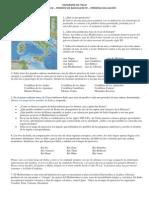 Geografía de Italia - Primero de Bachillerato - Primera Evaluación -Actividad
