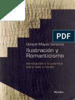 Mayos Solsona, Gonçal - Ilustración y Romanticismo. Introducción a La Polémica Entre Kant y Herder (1)