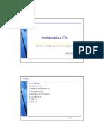 INTRODUCCION A ITIL 2008