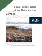Todo Lo Que Debes Saber Sobre El Conflicto en Las Bambas