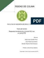 Circuito RLC Con Un Control PID (Teorico)