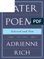 Adrienne Rich-Later Poems