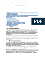 Defensa Nacional y Orden Interno