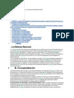 Defensa Nacional y Orden Interno