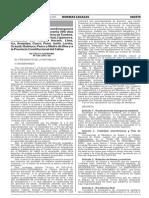 Ds. 030-2015-SA - Declaran en Emergencia Sanitaria Por 90 Días Tumbes, Piura, Lambayeque, La Libertad, Cajamarca...