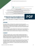 Estimación de Caudales Medios Anuales en Cuencas Templado Húmedas de Chile