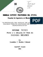 Elaboracion de Manual de Control de Calidad Para El Contador de Energia Monofasica