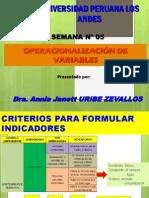 Semana 5 Operacionalizacion de Las Variables (1)