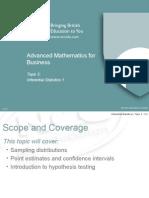 Lecture 03 - Inferential Statistics 1