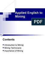 Applied English to Mining - Lesson I