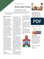 grade 7 and 8 september newsletter