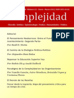 Revista Complejidad-25- Enero - Marzo 2015