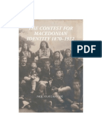 The Contest of Macedonian Identity 1870 1912 by Nick Anastasovski