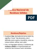 11. Política Nacional de Resíduos Sólidos.2015