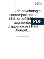 Essais de Psychologie Contemporaine- Paul Bourget