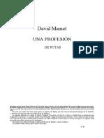 218866444 David Mamet Una Profesion de Putas