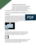 2. Complemento de Bloomberg Para Excel