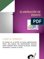 Elaboración de Ensayo