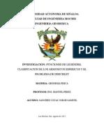 FUNCIONES DE LEGENDRE, CLASIFICACION DE LOS ARMONICOS ESFERICOS Y EL PROBLEMA DE DIRICHLET