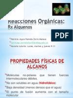 Reacciones Orgánicas - Alquenos