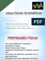 Reacciones Orgánicas - Aromáticos