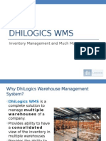 DhiLogics Warehouse Management System