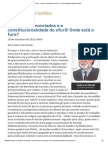 ConJur - Febre de Enunciados No NCPC e a (in)Constitucionalidade Do Ofurô