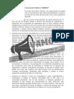 Declaración Publica Plataforma VAMOS!