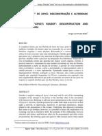 Artiho Derrida Leitor de Joyce - Deconstrucao e Alteridade Literaria