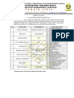 PENGUMUMAN LOLOS PESC PNB 2015