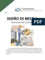 Lab09 - Diseño de Mezcla - Tecnología del Concreto (UPAO) - TECNOCO