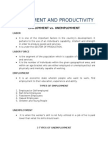 Employment and Productivity