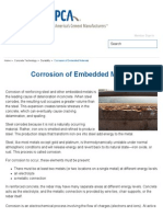 Corrosion of embeded materials