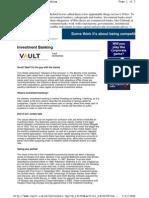 Vault Investment Banking