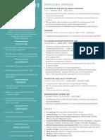 sania dawood  - creative resume - september 2015