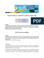 Modelo de Artigo ADMPG