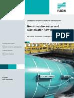 Flexim water measurement apps.