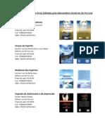 Tabela de Livros Editados Pelo Educandário Social Lar de Frei Luiz Agosto.2014