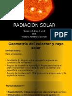 Geometría Del Colector y El Haz de Luz Solar