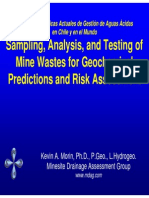 Sampling Analysis Testing Mine Wastes Geochemical Predictions Risk Assessment KMorin