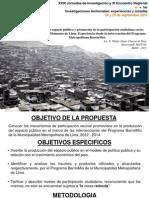 Participacion Ciudadana en el Programa BarrioMio, Lima