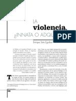 La Violencia -Innata o Adquirida