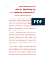 El Marxismo Mariategui y El Movimiento Femenino Popular