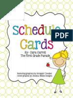 schedulecardsthefirstgradeparade