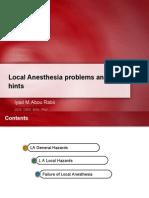 hazards of local anesthesia