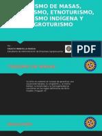 Turismo de Masas, Ecoturismo, Etnoturismo,