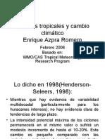 Ciclones Tropicales y Cambio Climático