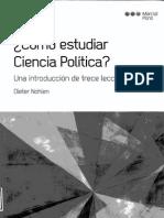 Como Estudiar Ciencia Politica - Dieter Nohlen