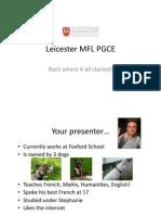 Leicester PGCE Web