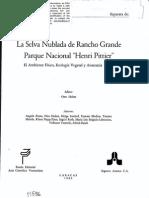 Zinck 1986. Los Suelos en Huber (Ed.) La Selva Nublada de Rancho Grande